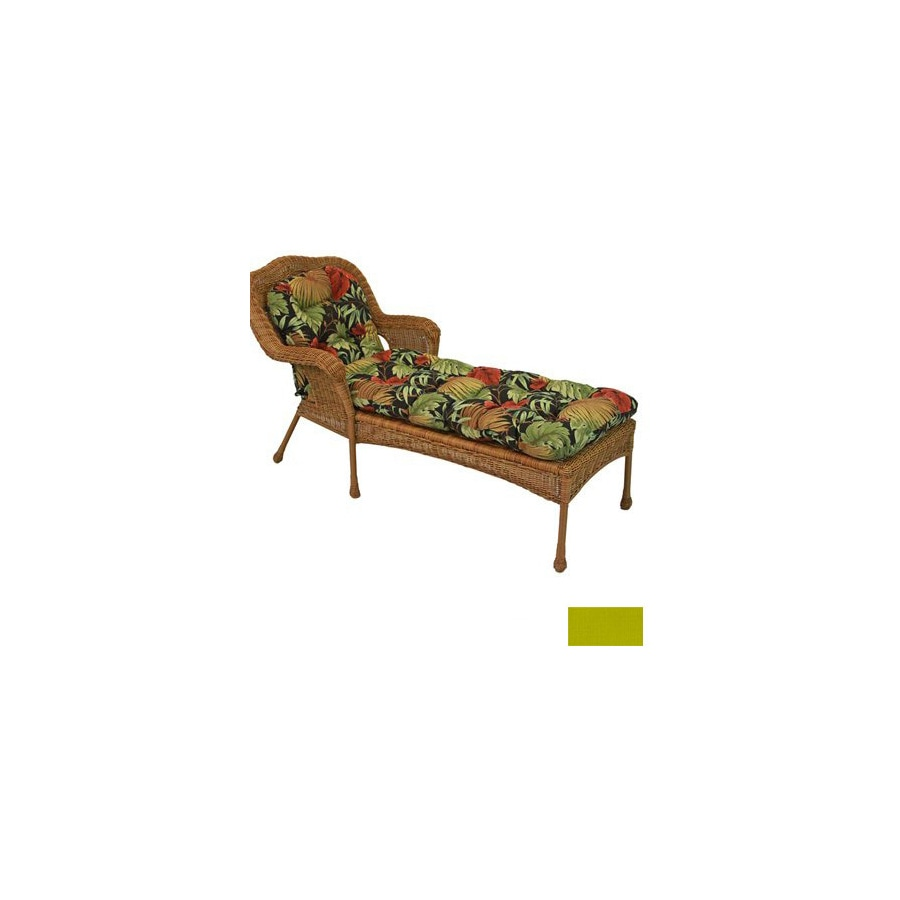 Shop blazing needles 68 in l x 20 in w lime patio chaise for Blazing needles chaise cushion