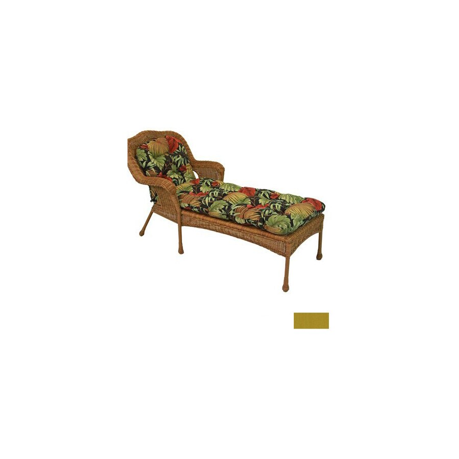 Blazing Needles 68-in L x 20-in W Sandstone Patio Chaise Lounge Cushion