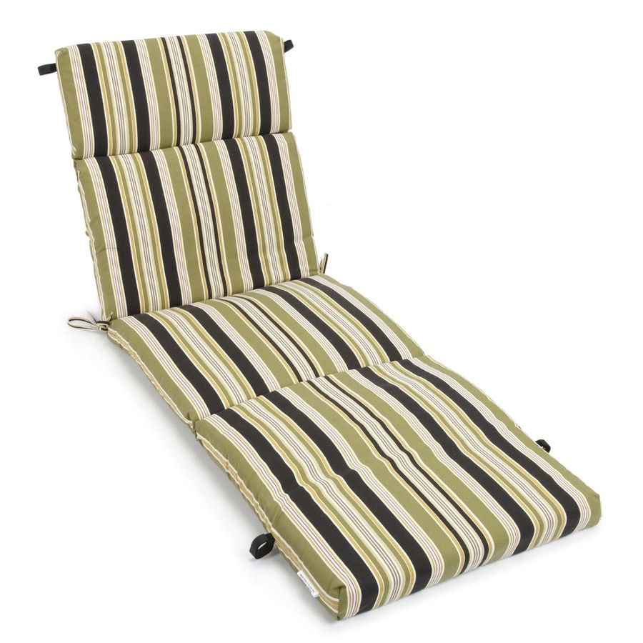 Blazing Needles Eastbay Onyx Stripe Cushion for Chaise Lounges