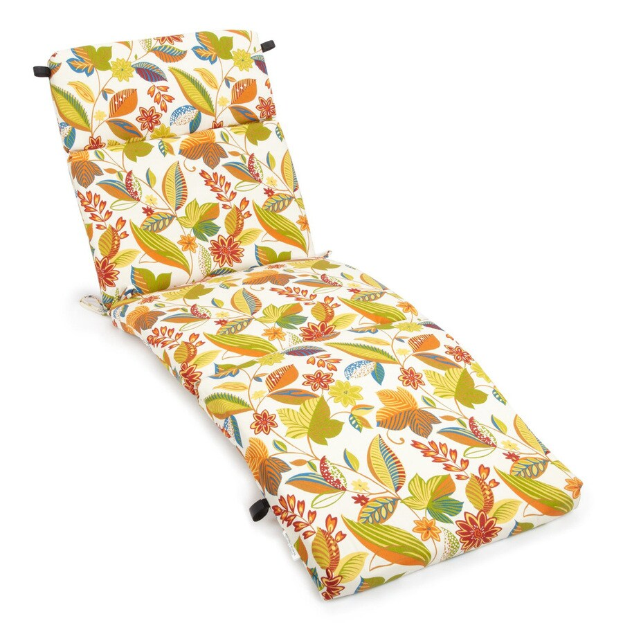 Blazing Needles Skyworks Multi Floral Standard Patio Chair Cushion for Chaise Lounge