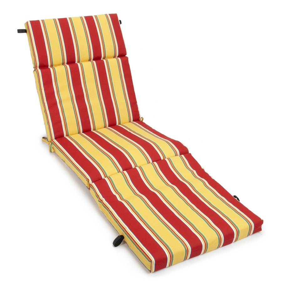 Shop blazing needles haliwell multi stripe standard patio for Blazing needles chaise cushion