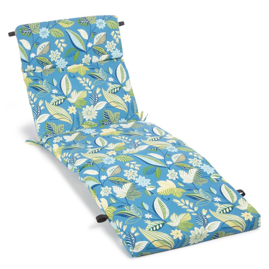 Blazing Needles Skyworks Caribbean Floral Cushion for Chaise Lounges