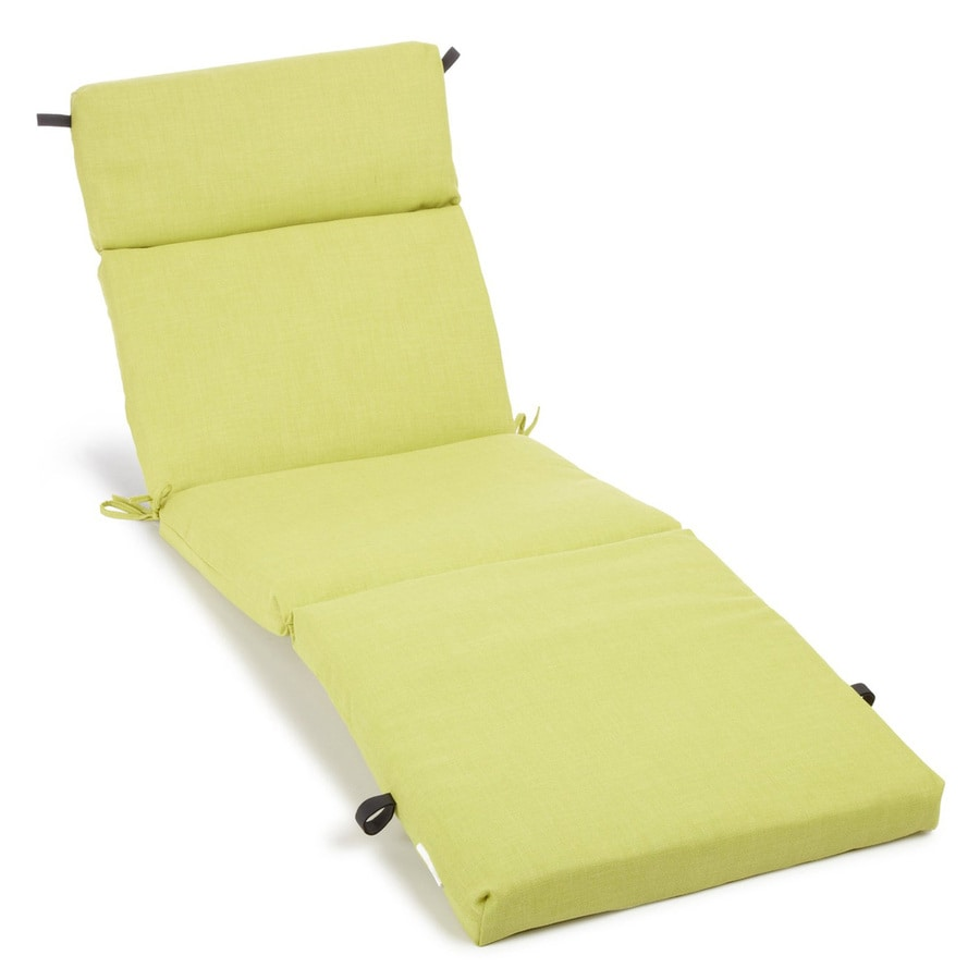 Shop blazing needles lime solid standard patio chair for Blazing needles chaise cushion