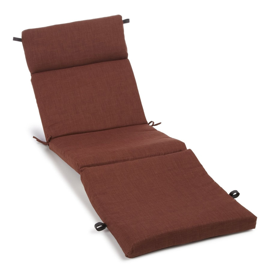 Shop blazing needles cocoa solid standard patio chair for Chaise longue cushions