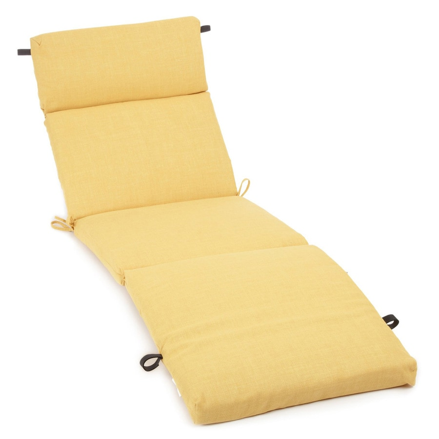 Shop blazing needles lemon solid standard patio chair for Blazing needles chaise cushion
