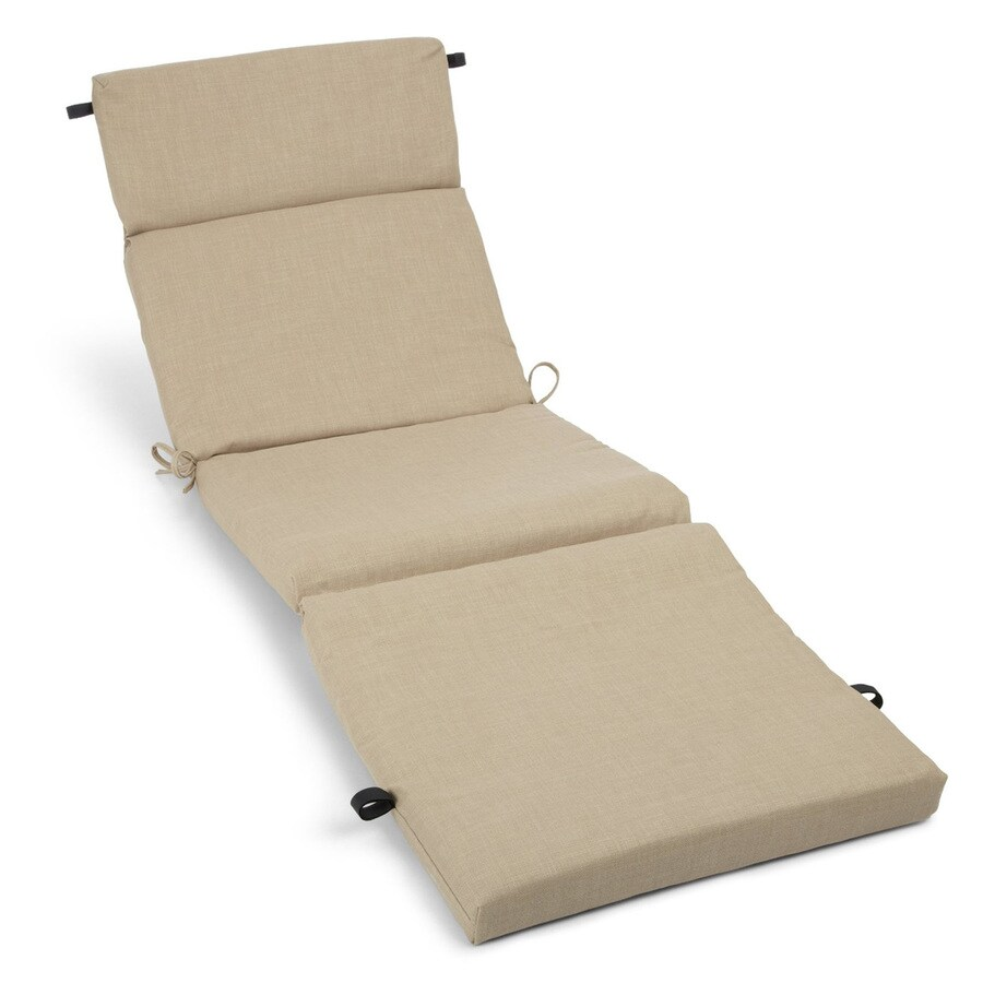 Blazing Needles Sandstone Solid Standard Patio Chair Cushion for Chaise Lounge