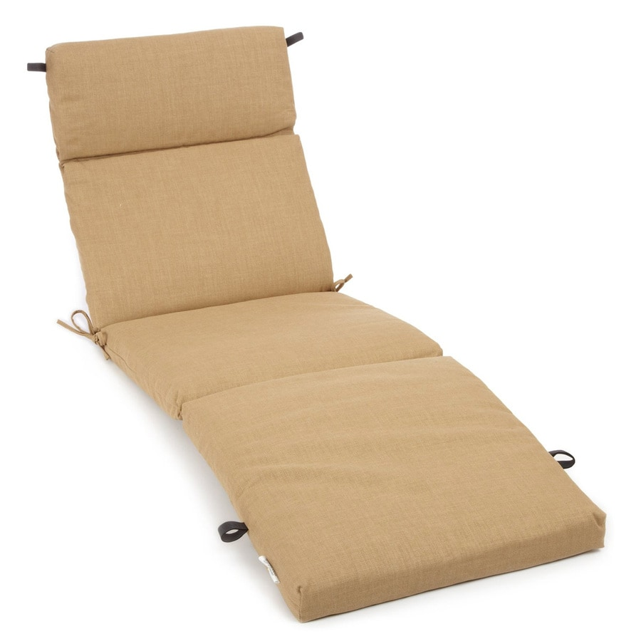 Shop blazing needles wheat solid standard patio chair for Chaise longue cushions