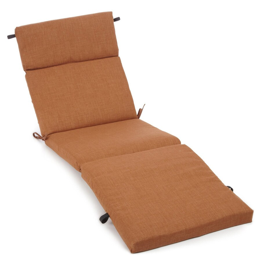 Shop blazing needles mocha solid standard patio chair for Blazing needles chaise cushion