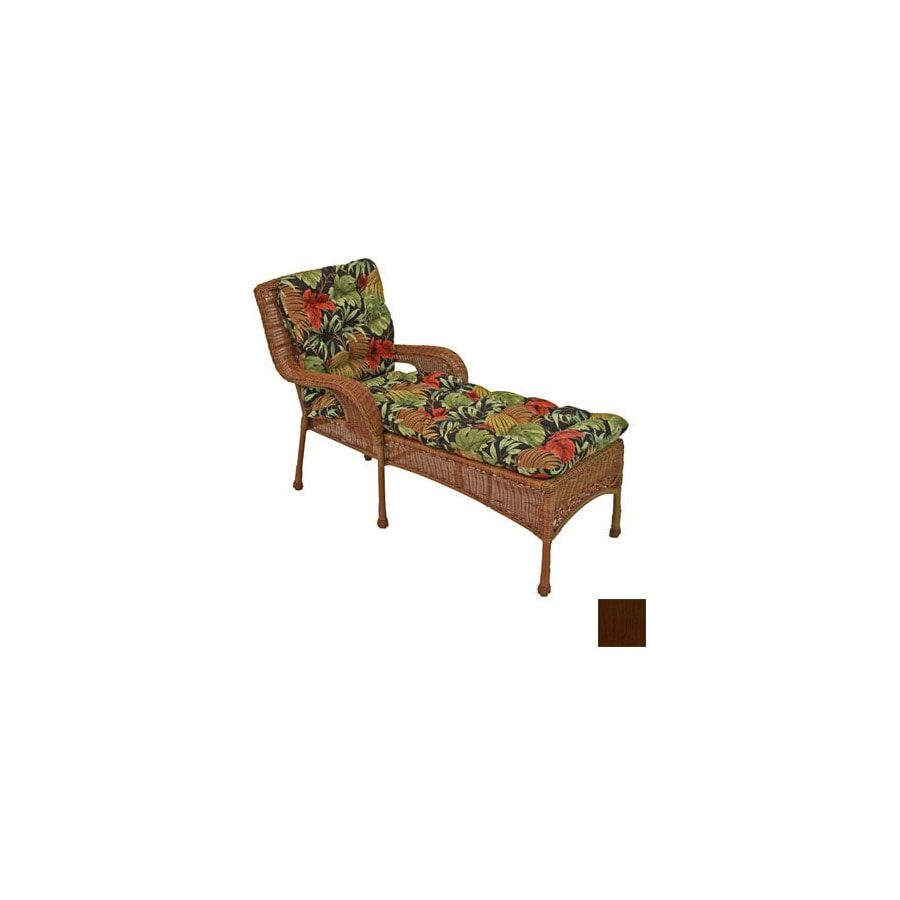 Blazing Needles 74-in L x 22-in W Cocoa Patio Chaise Lounge Cushion