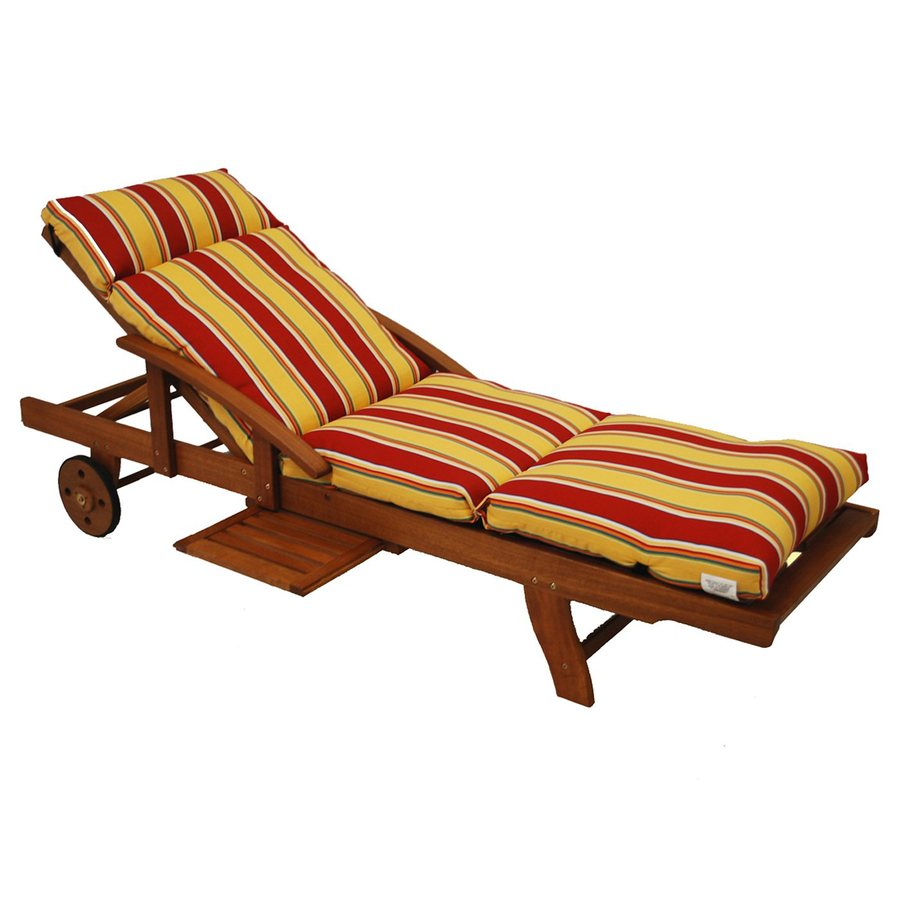 Blazing Needles Haliwell Multi Stripe Standard Patio Chair Cushion for Chaise Lounge
