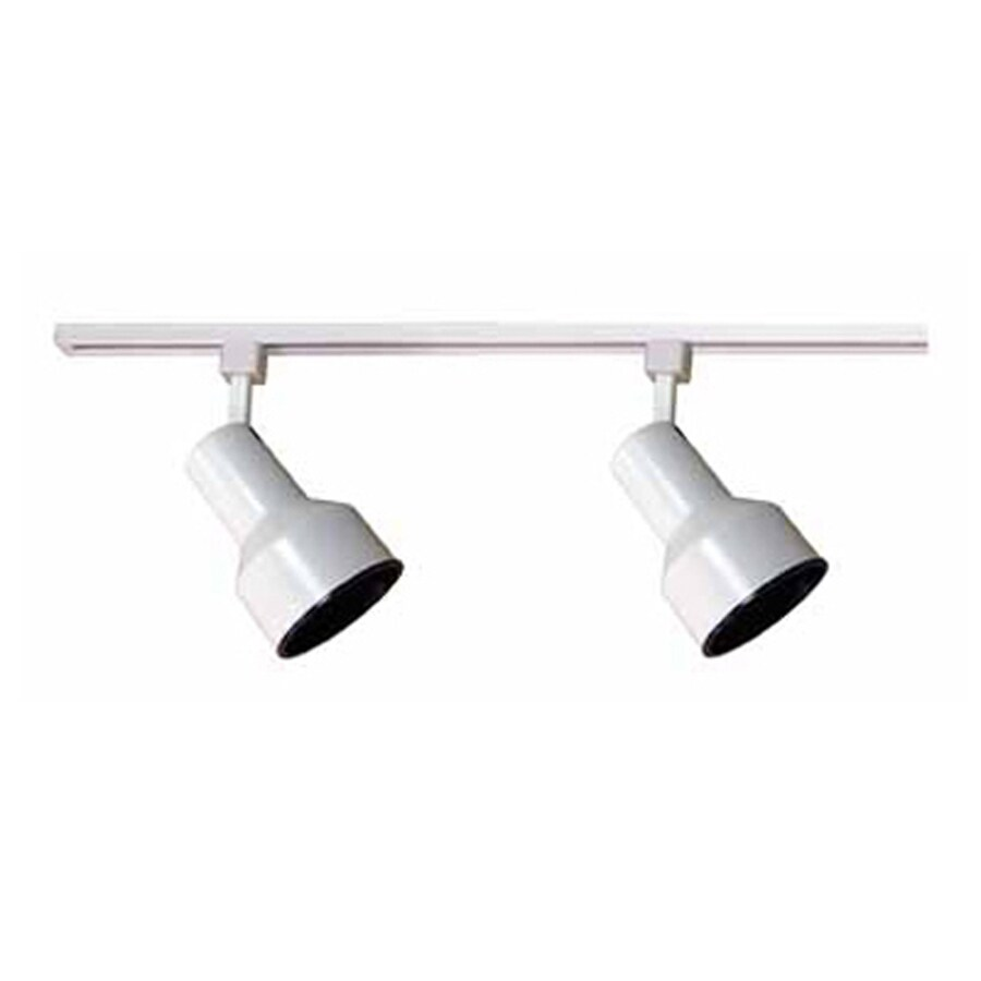 Volume International 2-Light 24-in White Step Linear Track Lighting Kit