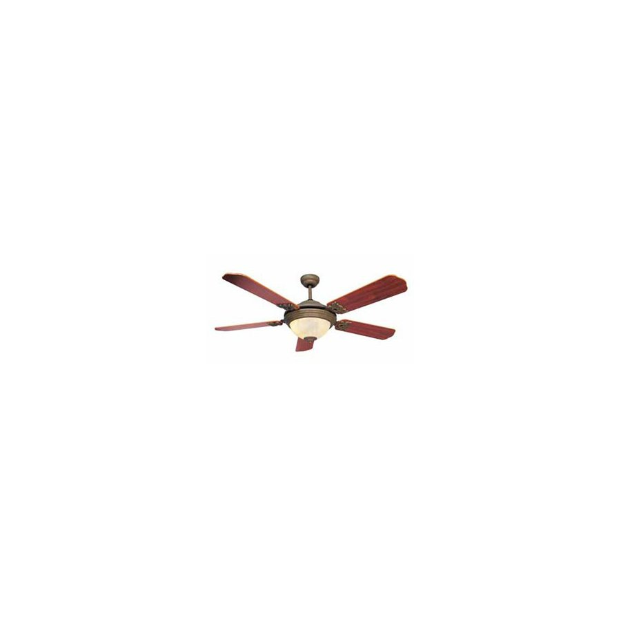 Volume International 52-in Manchester Prairie Rock Ceiling Fan with Light Kit and Remote
