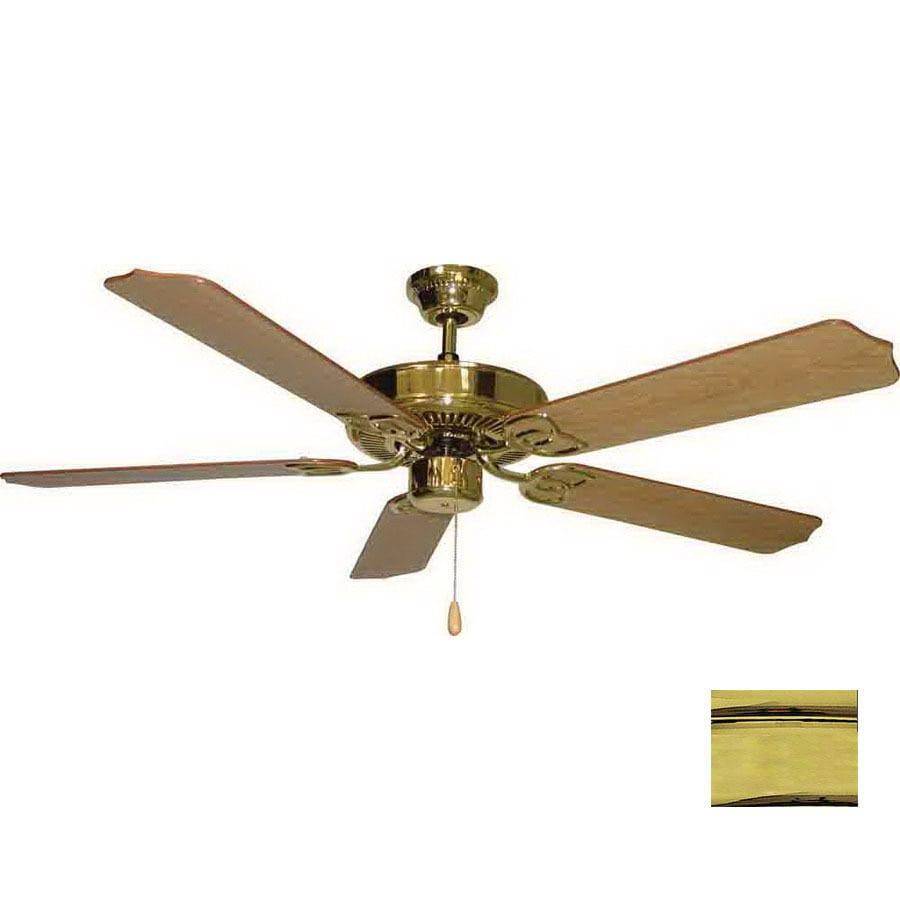 Volume International 52-in Marti Polished Brass Ceiling Fan ENERGY STAR