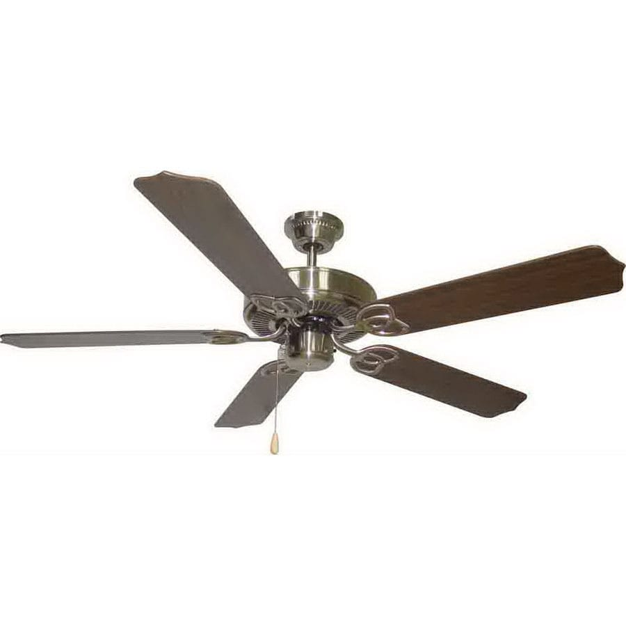 Volume International 52-in Brushed Nickel Ceiling Fan ENERGY STAR