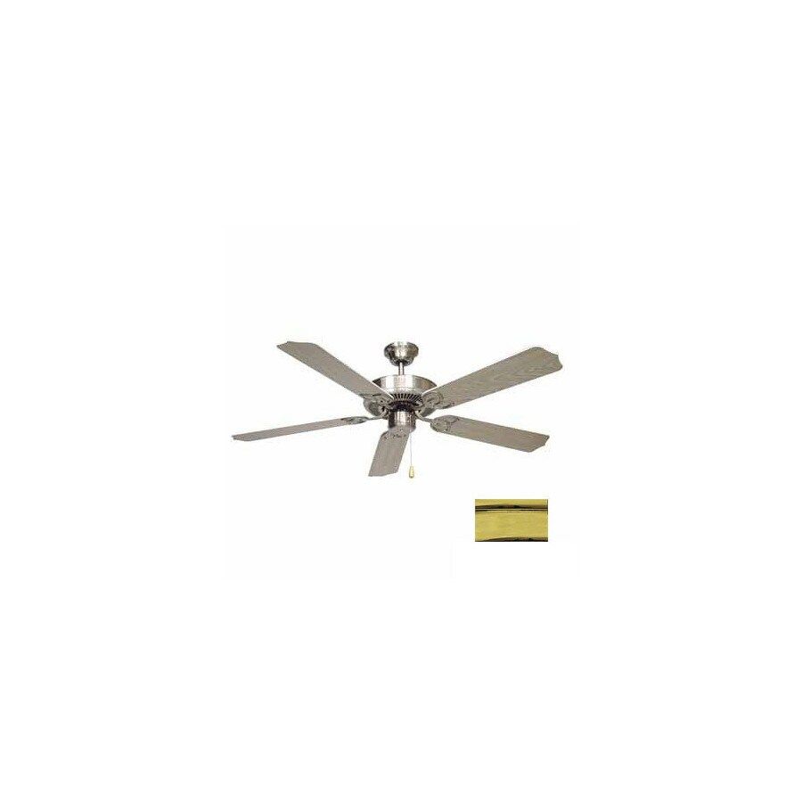 Volume International 52-in Minster Polished Brass Ceiling Fan