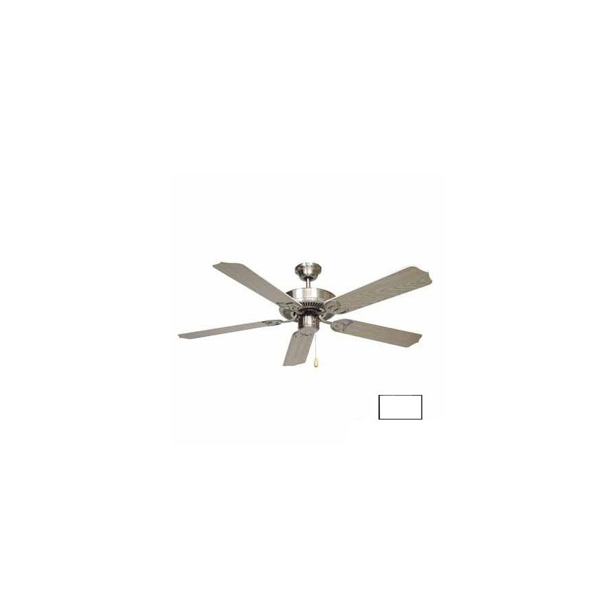 Volume International 52-in Minster White Ceiling Fan