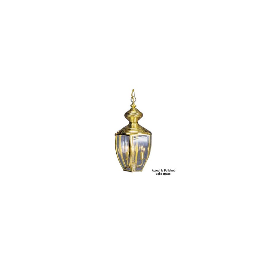 Volume International 17-3/4-in Polished Solid Brass Outdoor Pendant Light