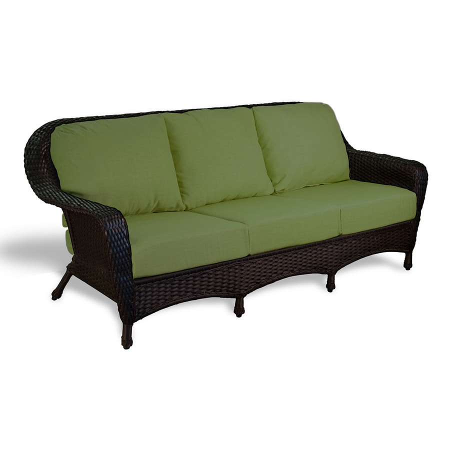 Shop Tortuga Outdoor Lexington Solid Cushion Tortoise Wicker Sofa At: garden loveseat