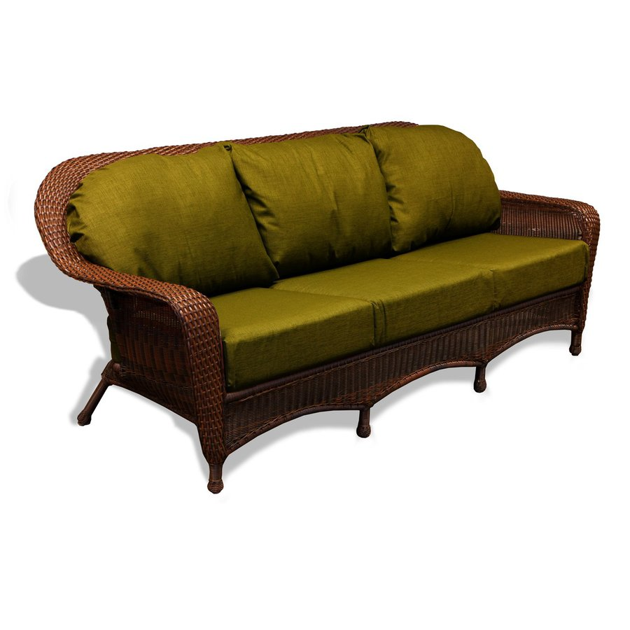 Outdoor Sectional Sofa Lowes: Shop Tortuga Outdoor Lexington Solid Cushion Java Wicker