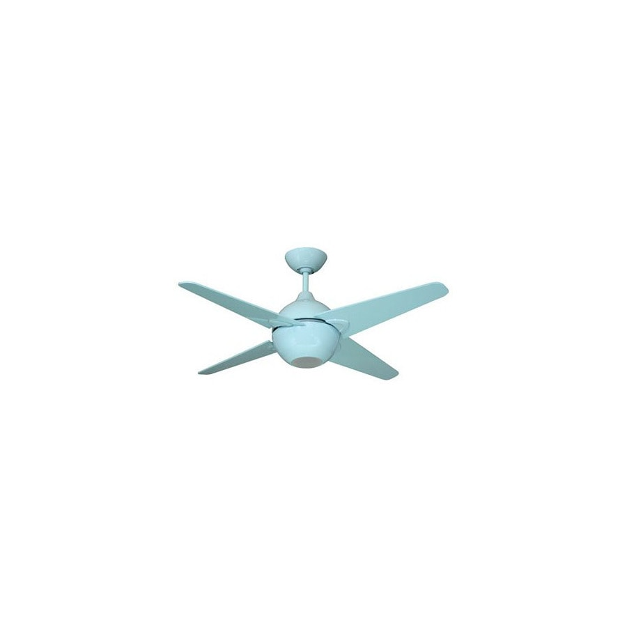 Yosemite Home Decor 42-in Spectrum Light Blue Ceiling Fan with Light Kit and Remote