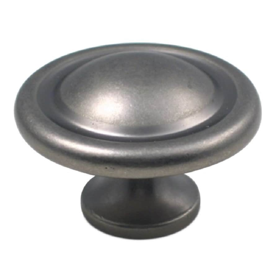 Rusticware Traditional Weathered Pewter Round Cabinet Knob