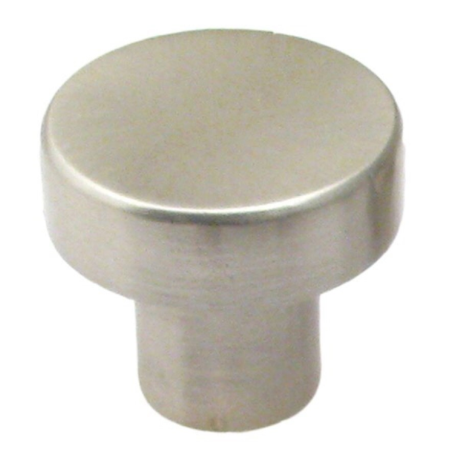 Shop rusticware modern satin nickel round cabinet knob at for Contemporary cabinet pulls and knobs