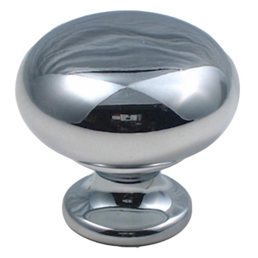 Rusticware Traditional Chrome Mushroom Cabinet Knob