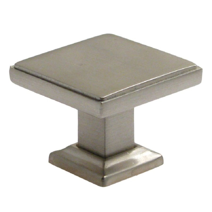 Shop rusticware modern satin nickel square cabinet knob at for Kitchen cabinets knobs