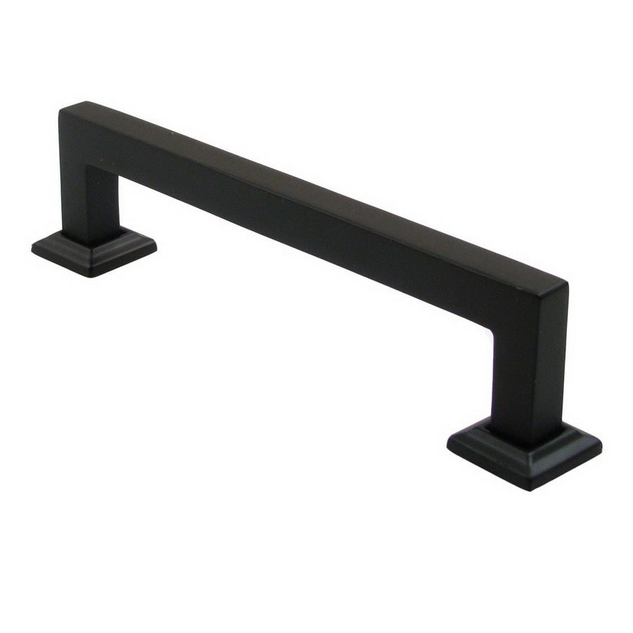 Shop rusticware 5 in center to center oil rubbed bronze modern rectangular cabinet pull at - Contemporary cabinet pulls ...