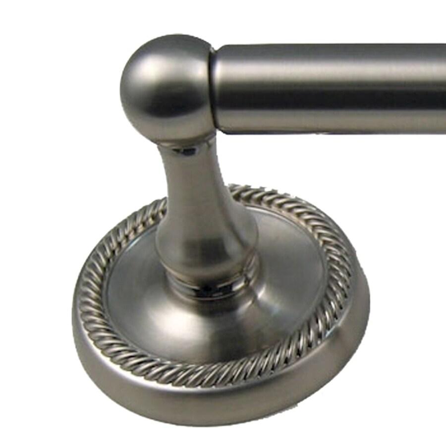 Rusticware Riverside Satin Nickel Single Towel Bar (Common: 18-in; Actual: 20.5-in)
