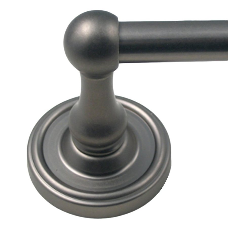 Rusticware Midtowne Weathered Pewter Single Towel Bar (Common: 18-in; Actual: 20.25-in)