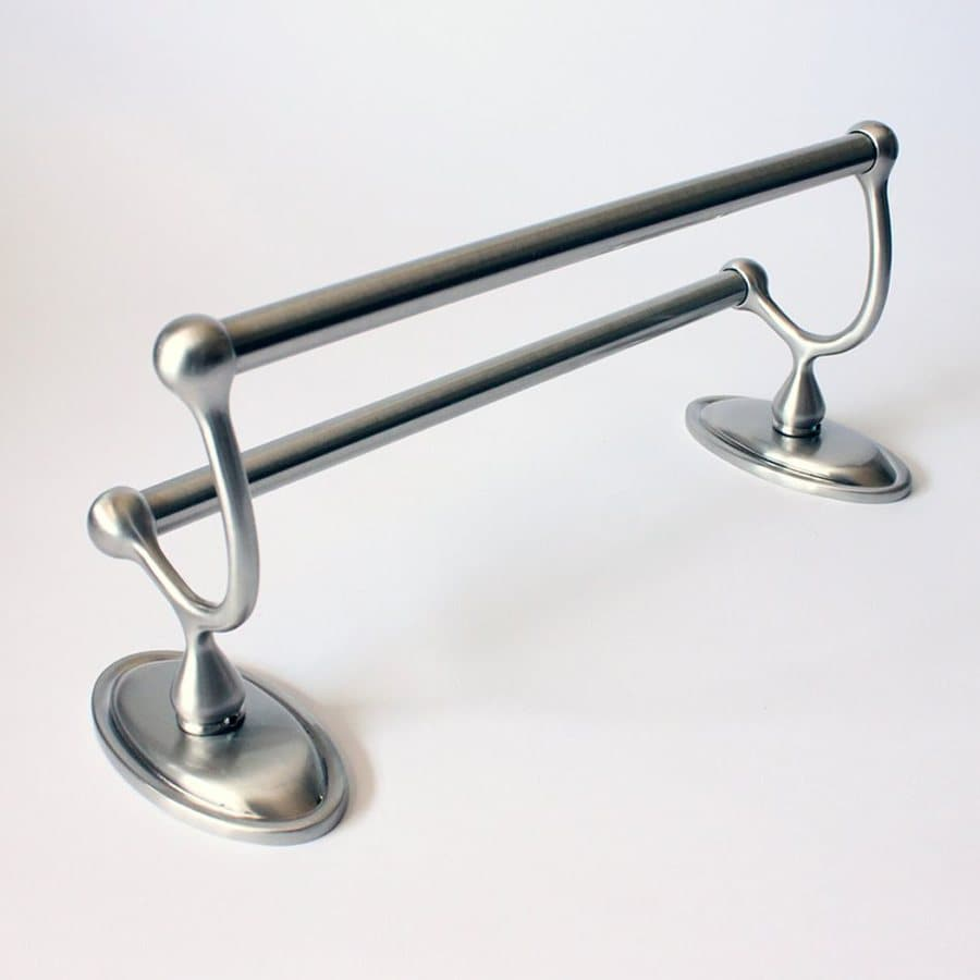 Rusticware Mapleridge Satin Nickel Double Towel Bar (Common: 24-in; Actual: 26.25-in)