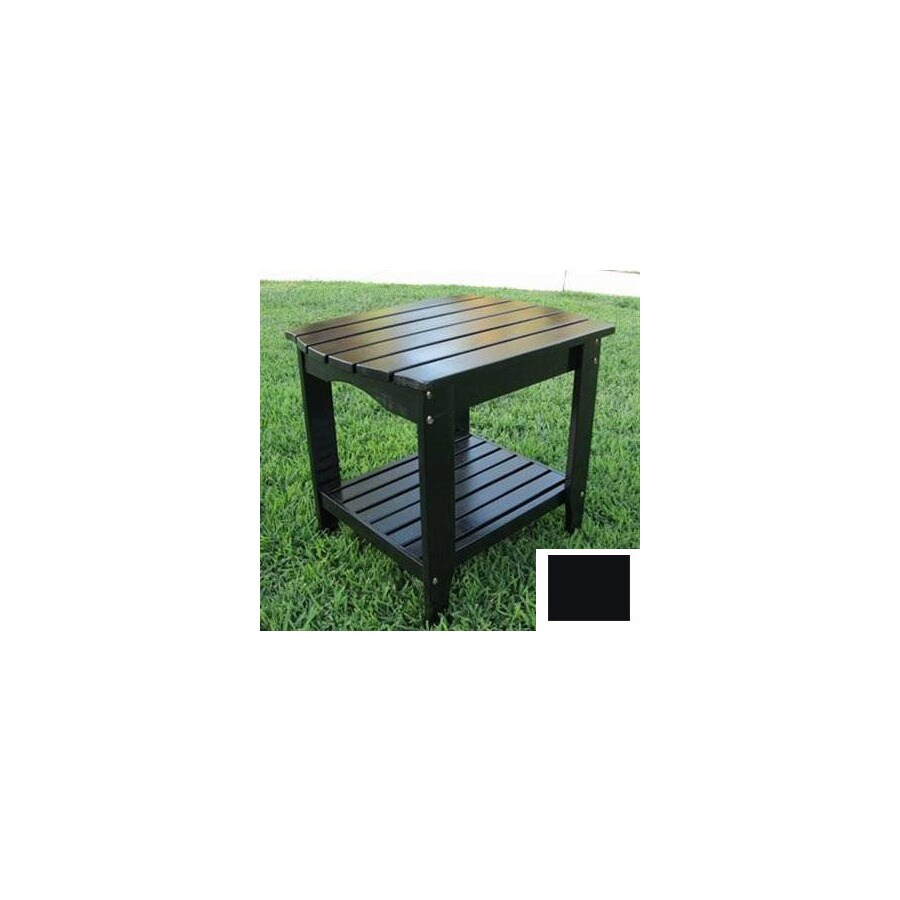 Shine Company 24-in x 19-in Black Cedar Rectangle Patio Side Table