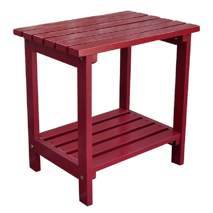 Shine Company 14-in W x 19.75-in L Rectangle Cedar End Table