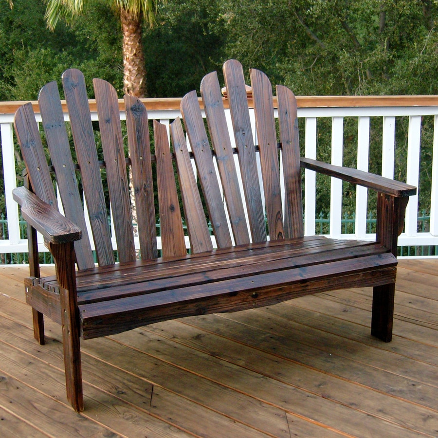 Shop Shine Company 1 Westport Burnt Brown Wood Traditional Adirondack Chair A