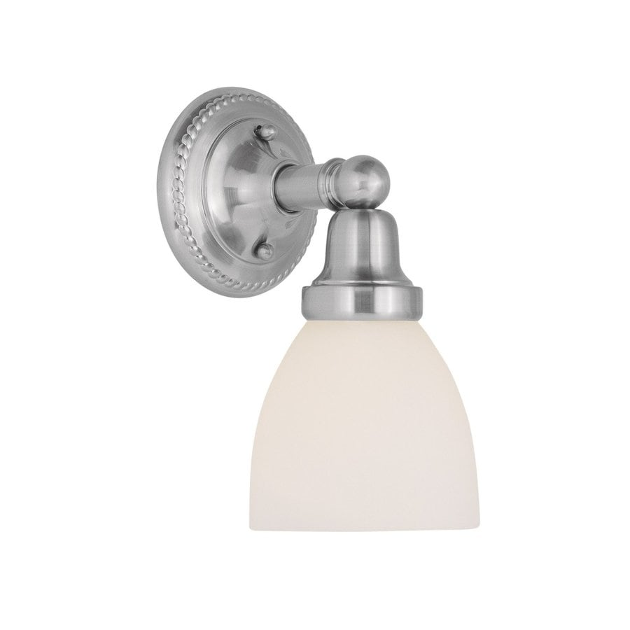 Livex Lighting Classic 6-in W 1-Light Brushed Nickel Arm Wall Sconce