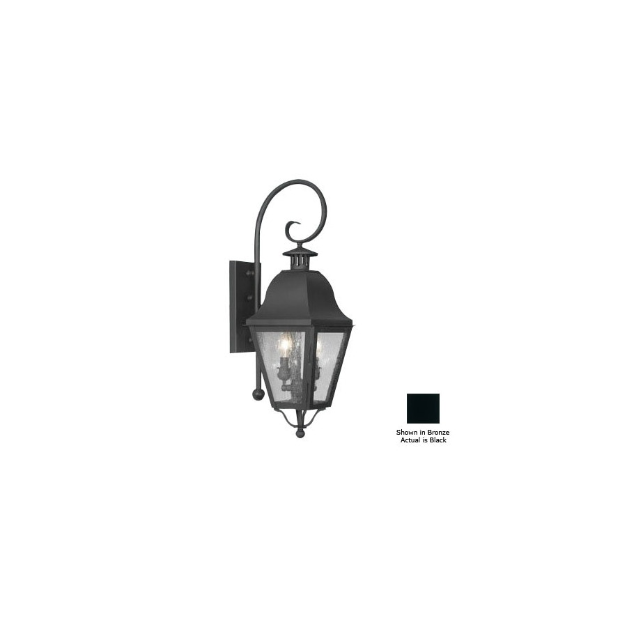 Livex Lighting Amwell 26-in Black Outdoor Wall Light