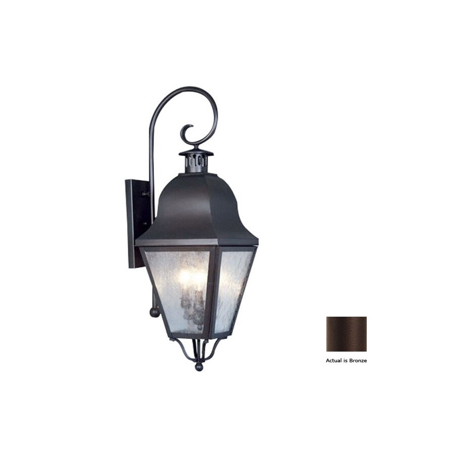 Wall Lamp Milano Bronze : Shop Livex Lighting Amwell 32-in Bronze Outdoor Wall Light at Lowes.com