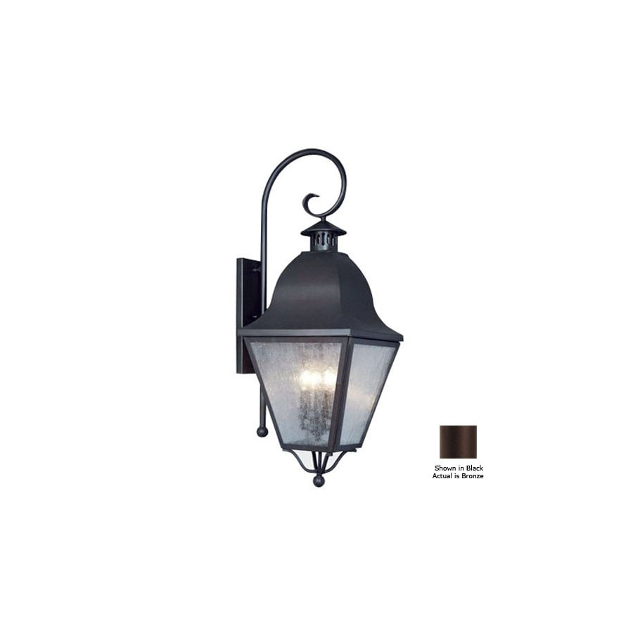 Livex Lighting Amwell 36-in Bronze Outdoor Wall Light