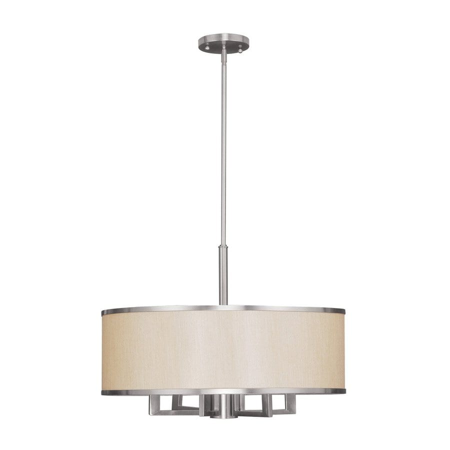 drum lighting lowes. livex lighting park ridge 24-in brushed nickel craftsman single drum pendant lowes i
