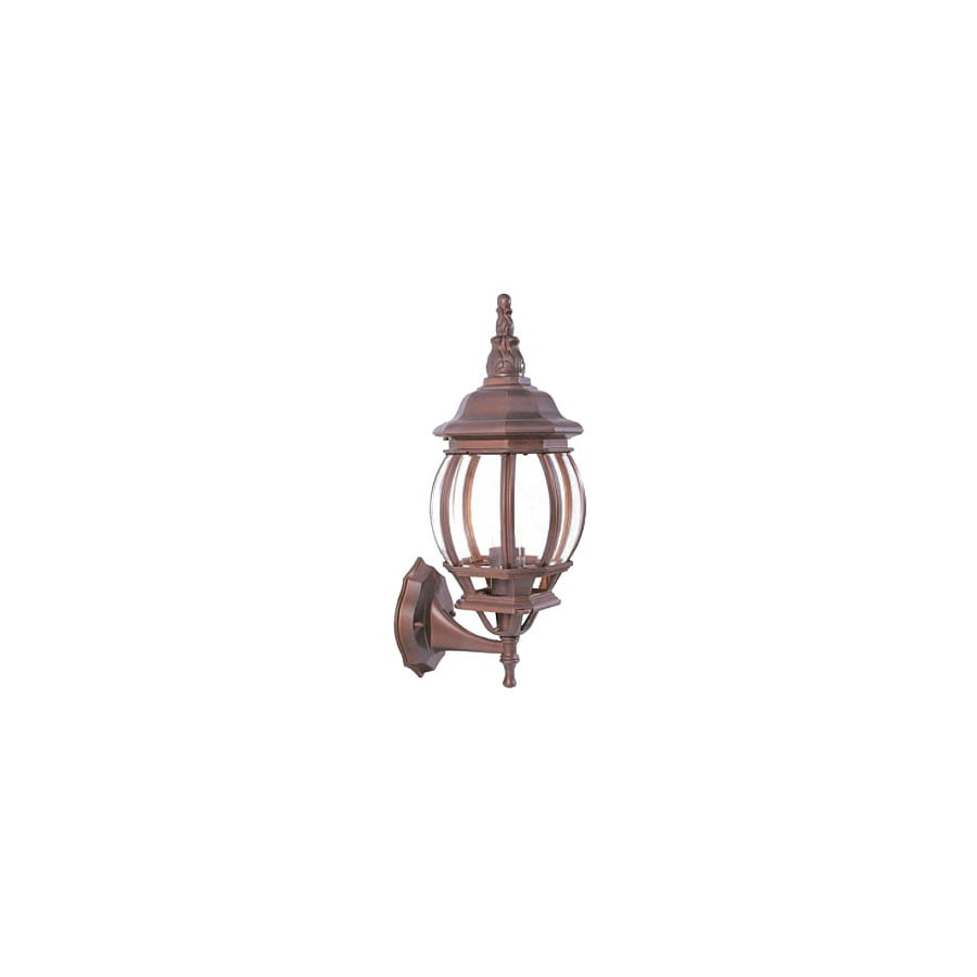 Livex Lighting Basic Lantern 17-1/2-in Weathered Brick Outdoor Wall Light