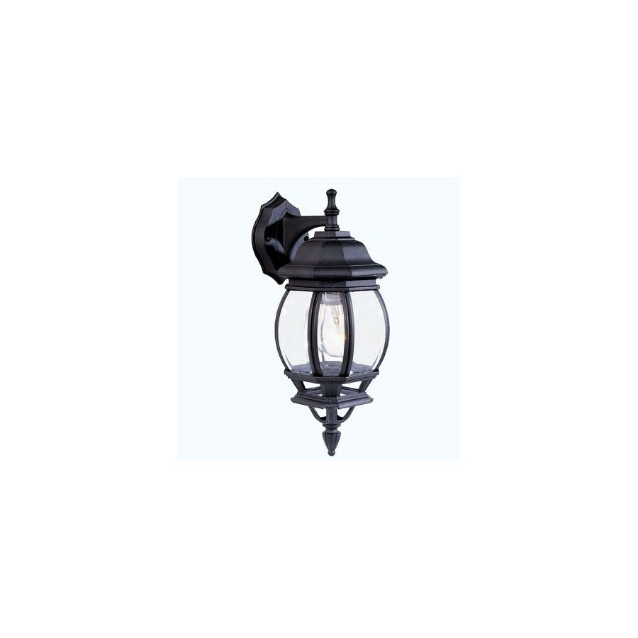 Livex Lighting Basic Lantern 17-1/2-in Black Outdoor Wall Light