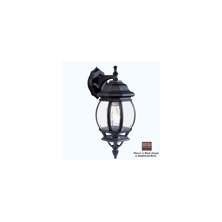 Livex Lighting Basic Lantern 17-1/2-in Weathered Brick Outdoor Wall Light