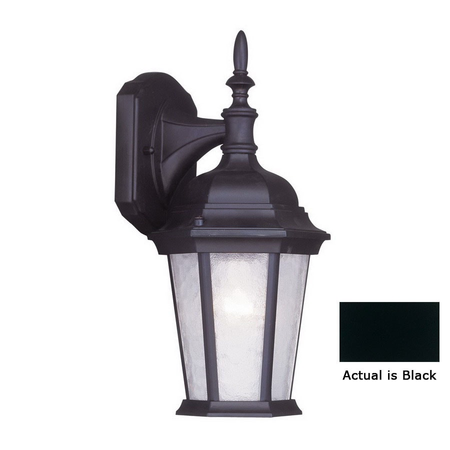 Livex Lighting Hamilton 12-1/2-in Black Outdoor Wall Light