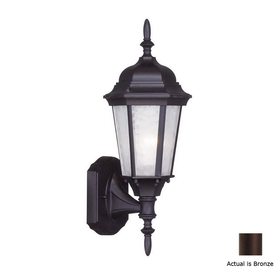 Livex Lighting Hamilton 16-in Bronze Outdoor Wall Light