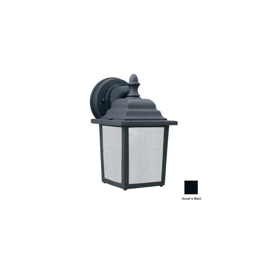 Thomas Lighting Hawthorne 10-in Black Outdoor Wall Light ENERGY STAR