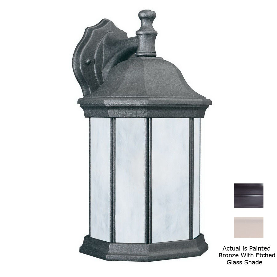 Thomas Lighting Hawthorne 14-in Painted Bronze Outdoor Wall Light ENERGY STAR