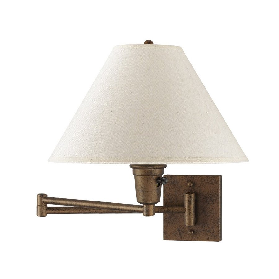 shop cal lighting shoo w 1 light rust arm wall sconce at. Black Bedroom Furniture Sets. Home Design Ideas