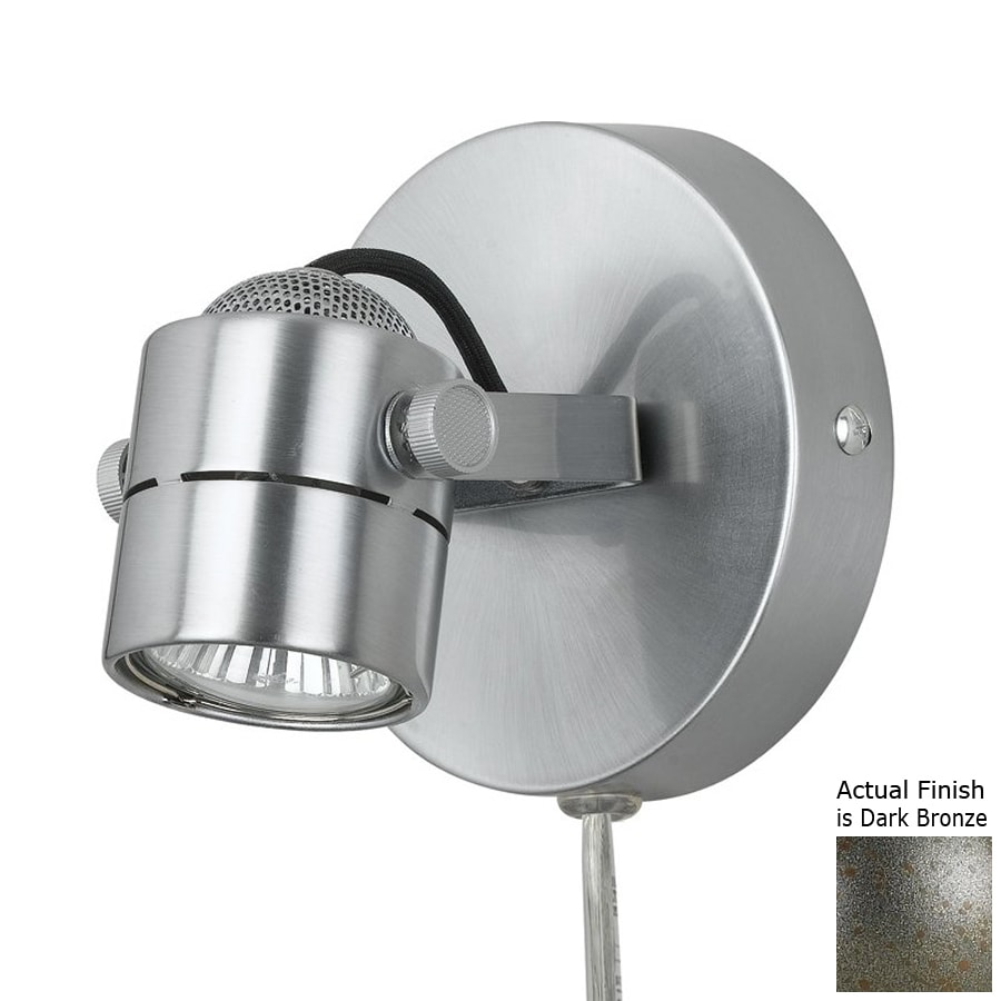 Shop Cal Lighting 4 75 In W 1 Light Dark Bronze Arm Plug
