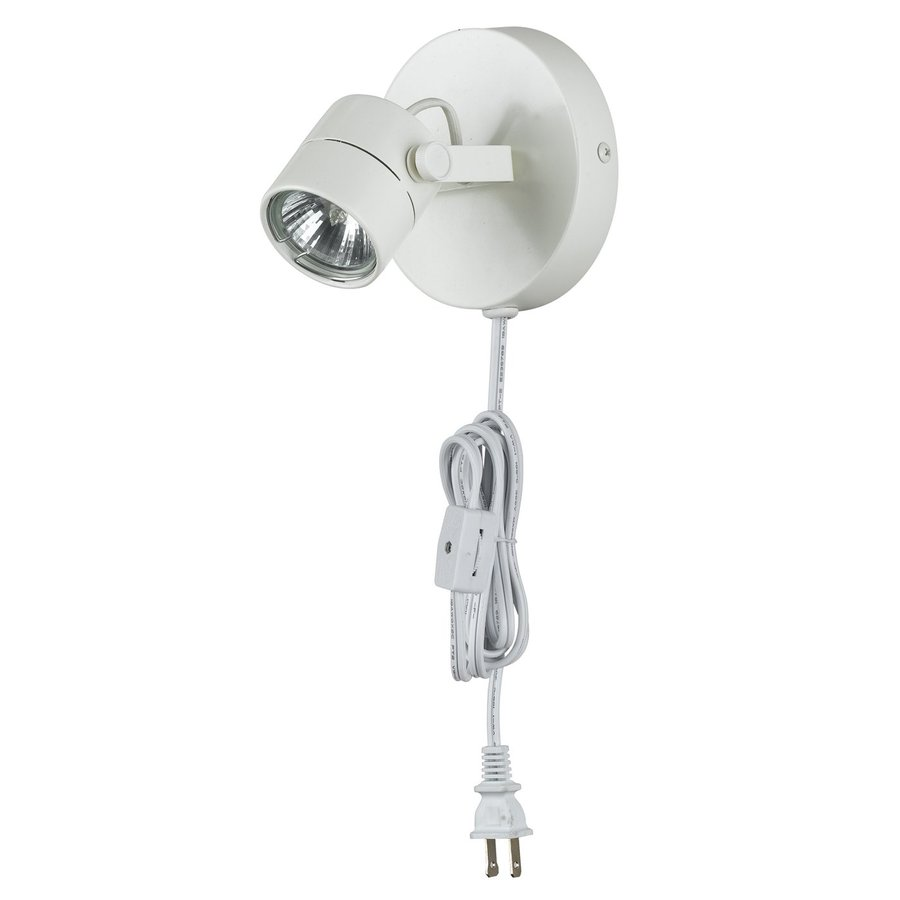 Shop cal lighting 1 light white arm plug in wall sconce at lowes cal lighting 1 light white arm plug in wall sconce mozeypictures Images